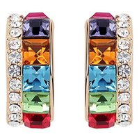 Stud austrian flag - Female Austrian Crystal Earrings Fashion Jewelry made with Swarovski Elements Rhinestone Crystal Stud Earrings For Women