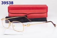 Wholesale Rimmed optical frame for men eyeglasses frame women new fashion spectacle frames vintage buffalo horn glasses with box