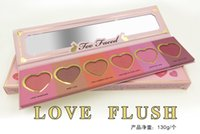 Wholesale Love Flush Face Blush Wardrobe Makeup Palette Long Lasting Heart Shaped Palette Colors Factory Produce New Arrival DHL