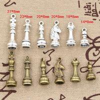 antique chess - Cents Charms chess Hollow Antique charms Zinc alloy pendant fit Vintage Tibetan Silver Bronze DIY bracelet necklace