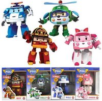 big roy - 4PCS Transformations POLI ROY AMBER HELLY Robot toys Kids Educational Toy Set Christmas Child Gift HOT TOYS