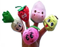 Wholesale Soft Fruit Veggie Finger Puppets Set Finger Puppet Dolls Toys Story Telling Props Tools Toy Model Babies Kids Children Toys