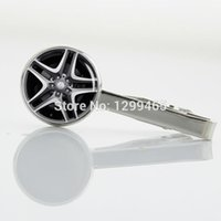 auto parts pictures - Spinning Rim Wear Necktie tie tacks amp retail Wheel Rim picture tie pin Novelty Interesting Auto Parts Tie Clips T