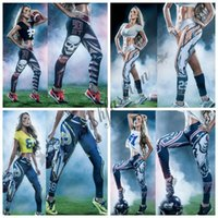 b rugby - Newest Fashion Womens D Galaxy Printed Leggings For Women Workout Capri Christmas Leggings Yoga Stretch Tights Sport Rugby Leggings M46 B