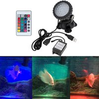 Wholesale Underwater LEDs W V Waterproof IP68 Submersible Decorative Spot Light RGB for Aquarium Garden Pond Pool Tank Accessories DHL H15113