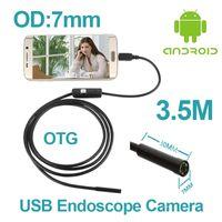 android phone len - mini USB Android Phone Endoscope Camera M M M mm len Snake Pipe IP67 Waterproof P Mirco USB OTG endoscope Camera