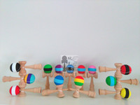 Wholesale High quality three color rubber Paint Kendama Ball toy Skillful Jling Game Ball Japanese Traditional Toy Balls Educational Toys Free DHL