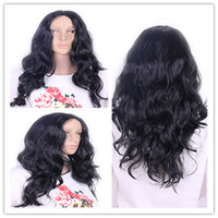 Wholesale cheap new Lace Front synthesis Human Hair Wigs Wavy Unprocessed Brazilian Density Water Wave Full Lace Wigs For Black Women In Stock
