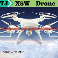 Wholesale NEW Syma X8 X8C X8W FPV RC Quadcopter Drone with MP WIFI Camera HD G Axis RTF dron RC Helicopter Fit SJ7000 Camera VS X8G