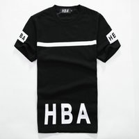 Wholesale 2016 Summer style brand hba Short t shirt homme Skateboard hip hop Sport Tops Tees t shirt men clothing Camisa