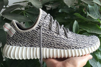 Cheap Adidas Originals 2016 Authentic Kanye West Yeezy 350 Boost Men and Women Running Shoes Pirate Black Moonrock Yeezys Boots Sneakers Hot Sale