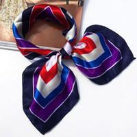 Wholesale 10 Silk Scarf Womens Fashion Pattern Small Square Satin Headscarf Headdress CA09270