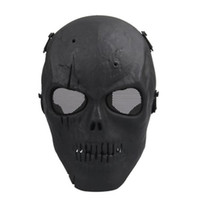 bb gun games - Army Mesh Full Face Mask Skull Skeleton Airsoft Paintball BB Gun Game Protect Safety Mask Halloween Party Horror Mask