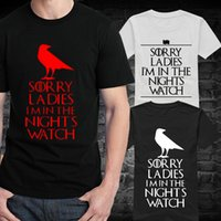 animal print watches - New Male Night s Watch T Shirts Men Round Neck Short Sleeve Summer Style Game of Thrones Sports Tee Shirt Vintage Boy t shirts