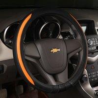 Wholesale 2016 Year Genuine Leather Sport Steering Wheel Cover Hebei new design cowhide genuine leather steering wheel cover