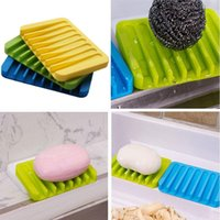 Wholesale New Arrivals Creative Silicone Soap Dish Bath Storage Sink Holder Hanging Bag Sponge Drain For Bathroom Silicone draining soap holder