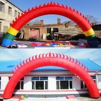 Wholesale The new eight meters flame red door inflatable arches wedding celebration activities of advertising the opening