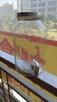 beverage promotions - 2016 time limited promotion mason jar L mason beverage dispenser with metal lid and faucet for wedding decoration