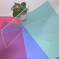 acrylic clear sheets - Acrylic Plexiglass Clear Sheet Home Hotel Building Supplies Decor Platic PMMA Square Plate x400x3mm Have many different colors