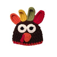 beanie babies chicken - Novelty Chicken Baby Boy Girl Hat Handmade Knit Crochet Infant Thanksgiving Turkey Beanie Cap Newborn Toddler Photography Prop