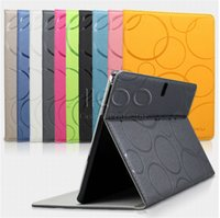 auto dust covers - KAKU Circles Pattern Auto Wake Sleep PU Stand Flip Cover Case For iPad Pro air ipad mini with package