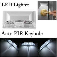 Wholesale Led Lights Mini Light Motion Sensor LED Light For Automatic Illumination Motion Detector Keyhole LED Light Lamp DHL