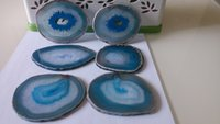 agate coasters - Agate Coaster Cup Mat Blue Colour Inches Inches Set of Drink Coasters