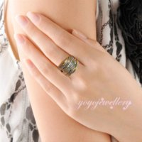band trio - 2016 Fashion Rings for Women Party Rock Rings K Gold plated Jewelry R1643 Cheap ring trio