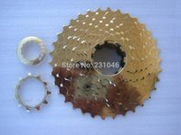 aluminum cassette - Recon Speed Freewheel T MTB Mountain Bike Aluminum Alloy Bicycle Cassette CNC One Piece g Gold Color Bicycle Flywheel