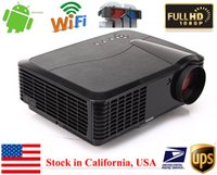 Wholesale Wireless P Full HD Lumens Home Theater Multimedia Android WIFI HDMI USB LCD LED Projector