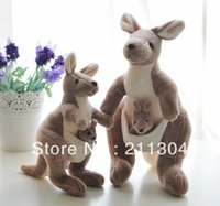 Wholesale XL high quality cm cute lovely kangaroo with baby best price plush toys brown color kids toy ci birthday gifts