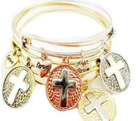 america bangles - Alex Cross Pendant shape alloy adjustable bracelet selling jewelry trade in Europe and America HJIA392