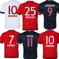 Wholesale Hot high quality Bayern Munich home and away short sleeved jerseys free custom number name