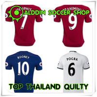 Wholesale 2016 TOP THAILAN QUALITY MEMPHIS IBRAHIMOVIC ROONEY SCHNEIDERLIN RASHFORD SCHWEINSTEIGER JERSEY SHIRTS HOME AND AWAY MAN JERSEYS