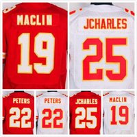 Wholesale Mens Marcus Peters Jersey Jamaal Charles Jersey Jeremy Maclin Jersey Elite Stitched Red White Size S XL