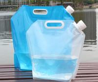 Wholesale Travel camping travel portable bucket outdoor sports water bottle biking hiking folded kettle drinking water water water storage