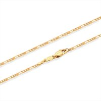 allergy baby - 18k Yellow Gold Plated Figaro Chain Necklaces Choker Short Necklace Fashion Jewelry for Boys Kids Baby Children Anti allergy