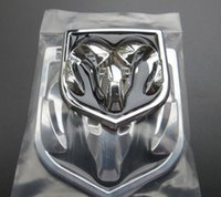 Wholesale 2PCS CAR STYLING D ABS Emblem Logo Front Rear Stickers Hood Trunk BOOT BONNET Badge Sheepshead Sticker for Dodge