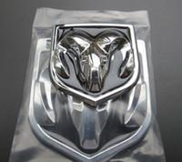 abs film - 2PCS CAR STYLING D ABS Emblem Logo Front Rear Stickers Hood Trunk BOOT BONNET Badge Sheepshead Sticker for Dodge