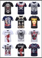 Wholesale T Shirt Men Short Sleeve Tshirt Boy Fashion Balmain Jeans T Shirt Skulls Print Tees Male Robin T Shirts Man Philipp Plein T Shirts Homme