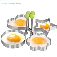 Wholesale 1 Pc Stainless Steel Egg Shaper Egg Mold Cooking Tools Pancake Molds Ring Heart Flower Kitchen Gadget