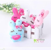 Cheap Marriage thrown objects Shed was married love bunnies mini pendant small doll plush toys wholesale kawaii plush toys