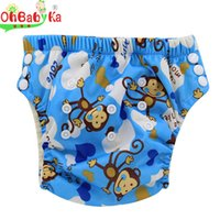 baby labs - Washable New Design Ohbabyka Brand Adjustable Baby Washable Cloth Diaper Reusable Nappies LABS Training Pants Colors