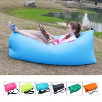 Wholesale Outdoor Fast Inflatable Sofa Sleeping Bag Air Sleep Sofa Couch Portable Furniture Sleeping Bag Hangout Lounger Inflate Air Bed