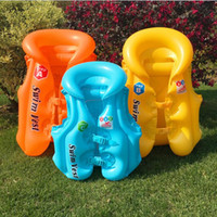 Wholesale Colorful Floating Life Vest Inflatable Life Vest Swim for Kids inflatable life Jacket Swimming Saving vest For Child Children Water Sport