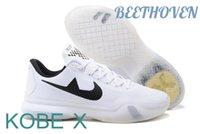 al por mayor x zapatos bajos de baloncesto-Nueva llegada KOBE 10 Zapatos de baloncesto de corte bajo Elite KOBE X BEETHOVEN baloncesto zapatillas blancas Negro Retro Zapatos de entrenamiento de 10 Weaving