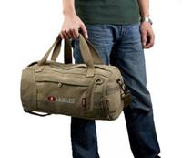 aerlis bag - Drum Men S Fashion Retro Canvas Travel Bag Of Trip Aerlis Famous Brand Duffel Bag Men High Quality Tote Duffel Bag Men
