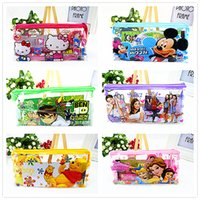 Wholesale bulk sets in1 mixed styles kids children s cartoon stationery bags pencils notebook ruler eraser