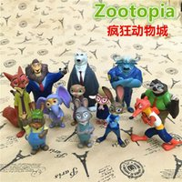 Wholesale 2016 set cm new Movie Zootopia Cartoon Utopia Action Figure Pvc Mini Models Nick Fox Judy Rabbit A0601017