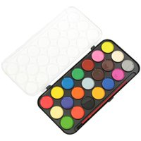 art case for kids - Overvalue Colored Watercolor Art Paint Set With Brush And Case For Artists DIY Painting School Kids Accessories
